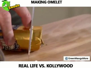 Cooking Egg in Real Life vs Movies