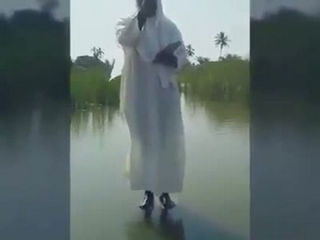 Pastor tries walking on water for real