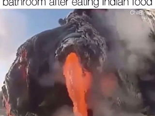 When you finally get into a bathroom after eating Indian Food