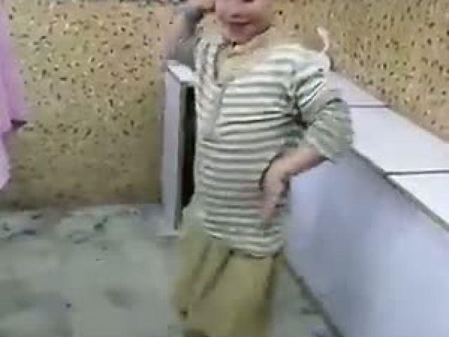 Beautiful boy Dancing nicely