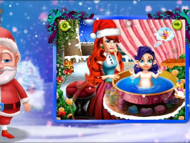 Christmas Baby Bath - iOS Android Gameplay Trailer By Gameiva