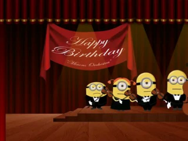 Minions Happy Birthday Song - Crazy Funny War
