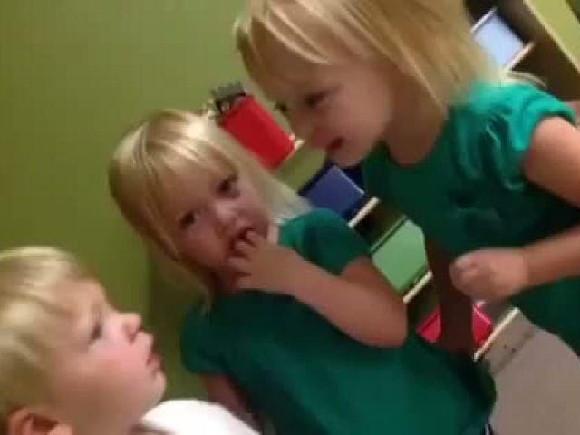 Funny Adorable Argument Between Kids Over The Rain