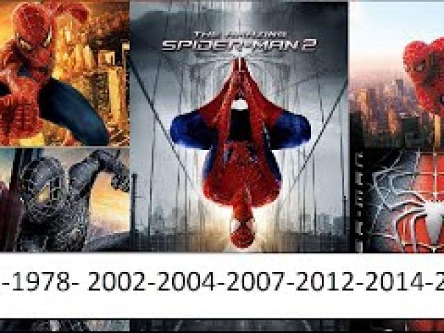 Spiderman transformation 1977-1978- 2002-2004-2007-2012-2014-2016