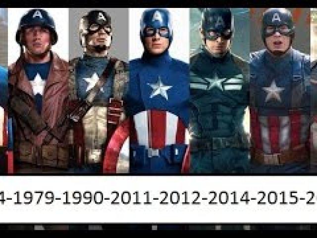 Captain America Through Years 1944-1979-1990-2011-2012-2014-2015-2016