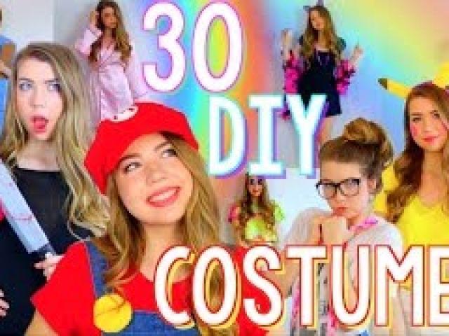 30 Last Minute DIY Halloween Costumes! Cheap & Easy!