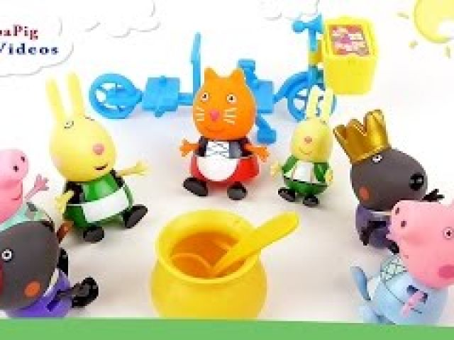 Peppa Pig and her Friends have a Dinner
