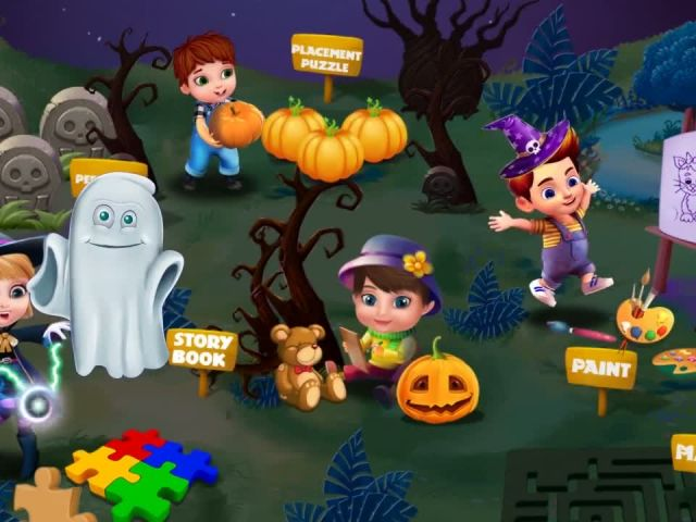 Halloween Story Puzzle - Story Puzzle Games By Gameiva