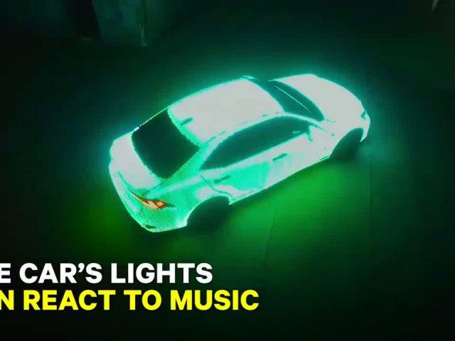 Lights on car or car on lights?