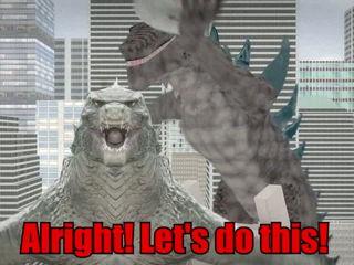 Godzilla ALS Ice Bucket Challenge