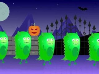 -Five Little Monsters- - Based on -Five Little Ducks- - Halloween numbers song for children