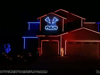 Halloween Light Show 2014 - Rude (Magic)