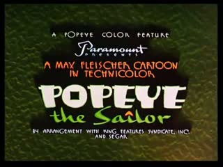 POPEYE THE SAILOR - short cartoon # 5 Aladdin and His Wonderful Lamp (1939) (1)