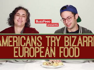 Americans Try Bizarre European Food