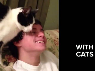 16 Dudes Who Love Cats