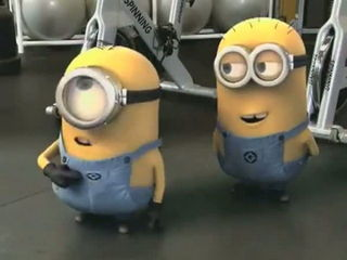 Minions in Gym with Banana