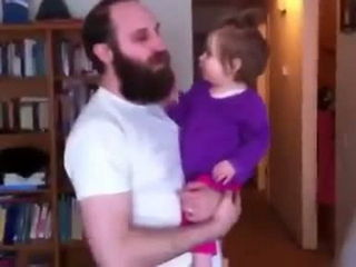 Dad shaves beard and confuses his daughter