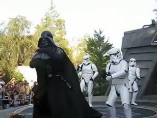 Darth Vader dance with the force