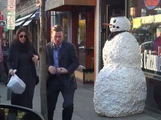 Scary Snowman Prank 2016