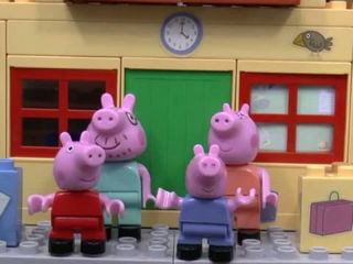 Peppa Pig - New House with Minions and Thomas