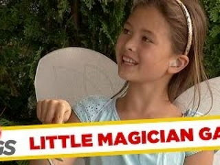 Cute Fairy Magically Opens Sliding Door