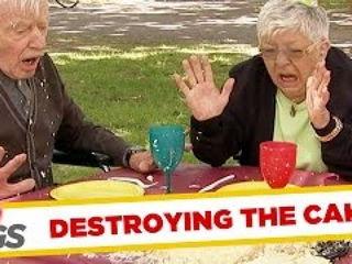 Crazy Granny Ruins Piñata Party !