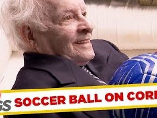 Football Lands in Man's Coffin Prank!
