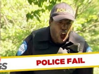 Cop Falls Right on His Junk Prank