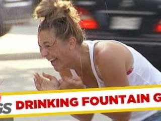 Crazy Drinking Fountain Water Prank