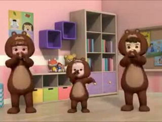 Three Cute Bears Dance (Sooo Funnyyy !!!)