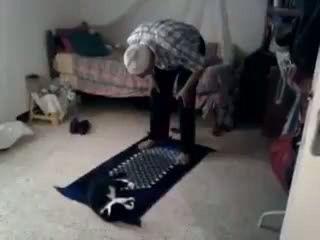 Cat Disturb His Owner Prayer