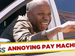 Hilarious Pay Machine Steps Back Prank