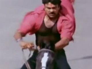 Alluda Majaka Movie Scenes Chiranjeevi horse ride