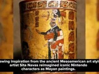 Super Smash Bros Characters Reimagined As Mayan Paintings