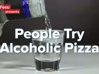 People Try Alcoholic Pizza