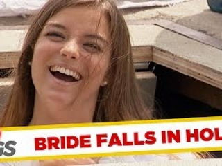 Bride Falls in a Hole!