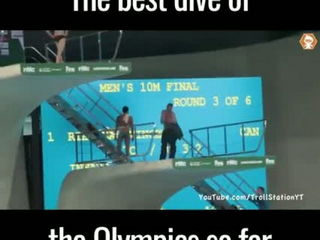Funnyyy !! Best Dive Of Olypmic Ever !!