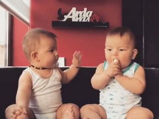 Cute Twins Baby