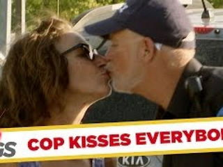 Policeman French Kisses Everybody He Arrests