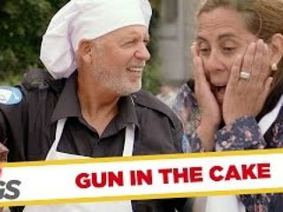 Gun Falls in Chocolate Cake Batter Prank