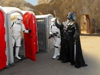 Toilet Star Wars Prank! Stormtroopers attack!