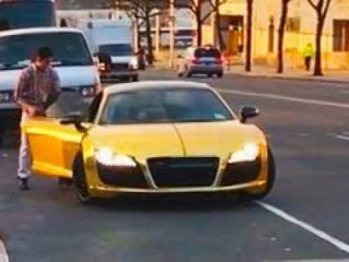 Homeless Man Steals a Gold Supercar (Social Experiment)!!!