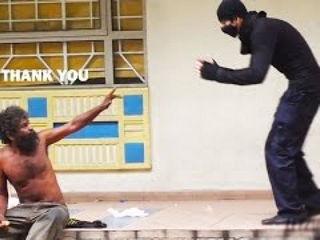 Ninja Feeds The Homeless!
