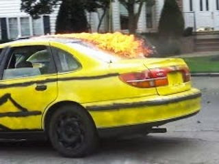 Your Car is on FIRE PRANK!