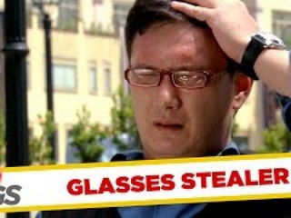 Man Steals Glasses & Runs Away