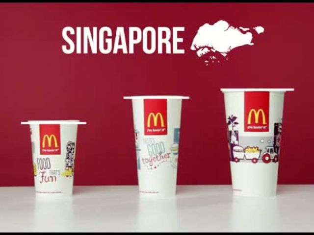 McDonald's Cup Sizes Around The World