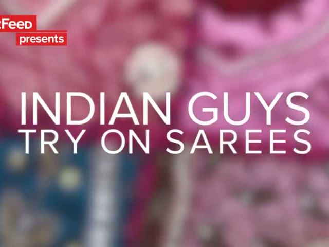 Indian Guys Try On Sarees