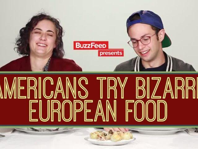 Americans Try Bizarre European Food
