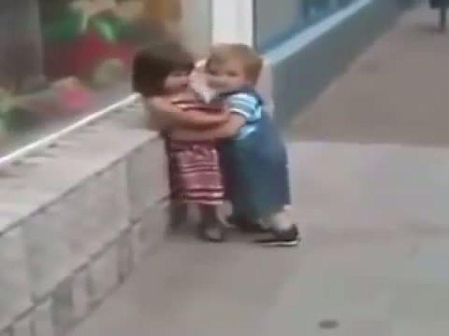 Little boy flirt