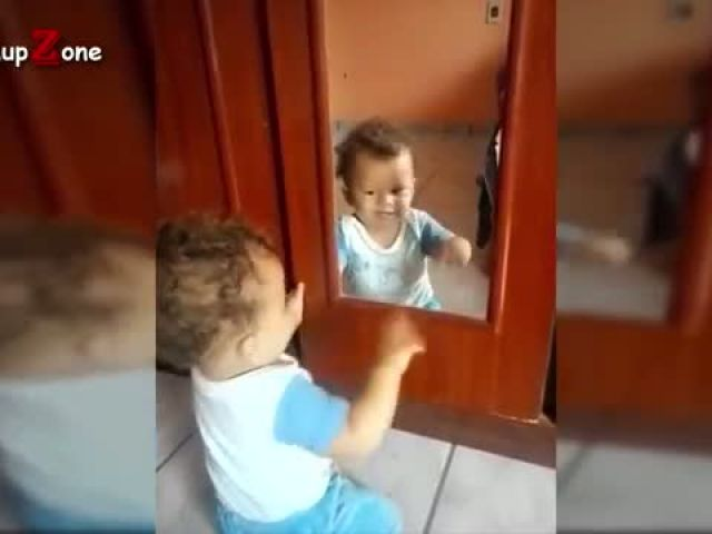 Baby Sees Mirror For The First Time